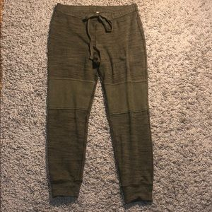 Free People Army Green Patch Leggings